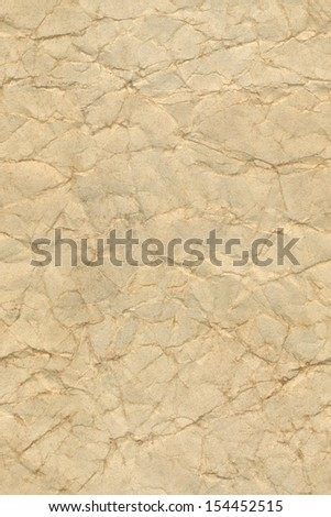Beige seamless crumpled paper texture
