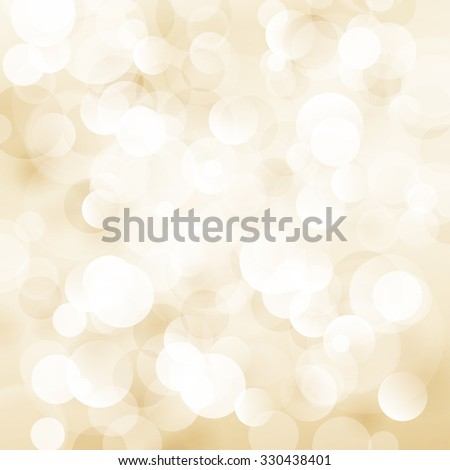 Beige Soft  Bright Abstract Bokeh Background ,Soft Glow of the Sun ,  Defocused Lights - stock photo