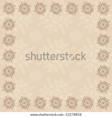 Beige Square Frame Two - RASTER version - stock photo