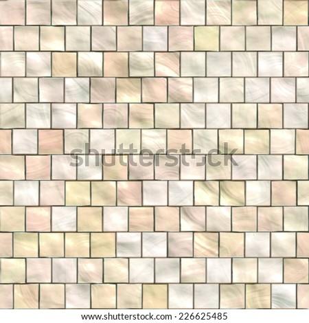 Beige Tiles - Off center tiling - Seamless texture - stock photo