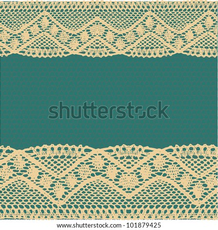 Beige-yellow lace background. Raster.