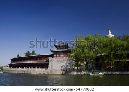 Beihai Park ,Beijing - stock photo