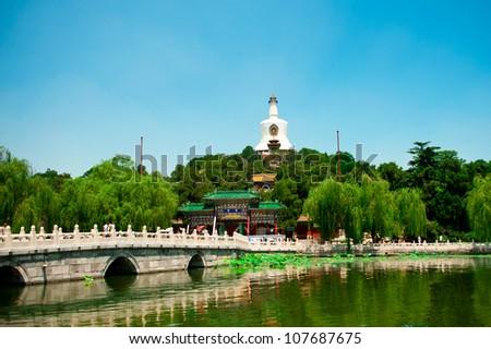 Beihai Park in Beijing - stock photo