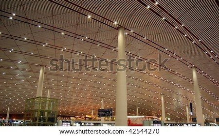 Beijing airport, China.