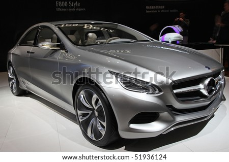BEIJING - APRIL 27: Mercedes-Benz F800 style car is on display at the 2010 Beijing International Automotive Exhibition (Auto China 2010) on April 27, 2010 in Beijing, China.