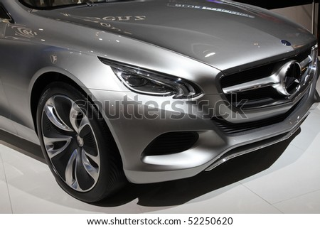 BEIJING - APRIL 27: Mercedes-Benz F800 style car is on display at the 2010 Beijing International Automotive Exhibition (Auto China 2010) on April 27, 2010 in Beijing, China. - stock photo