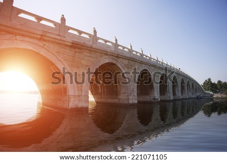 Beijing Arch Bridge - stock photo