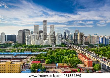 Beijing, China CBD skyline. - stock photo
