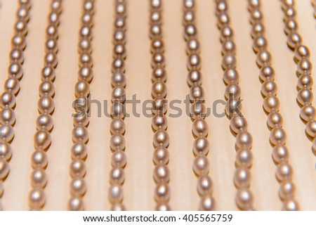 BEIJING, CHINA - MAR 27, 2016: Interior the Longing pearl shop in Beijing, CHina. Pearl articles as bracelet or neckless are popular among tourists