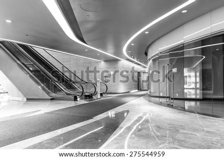 Beijing, China - March 25, 2015:Wangjing soho building indoor scene , wangjing soho is Beijing famous landmark - stock photo