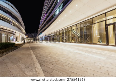 Beijing, China - March 25, 2015:Wangjing soho building night scene , wangjing soho is Beijing famous landmark - stock photo