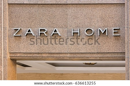 BEIJING, CHINA-MAY 1, 2017: Zara home store. Zara Home is a company founded in 2003 and belongs to the Spanish Inditex group. It has around 2100 stores in 88 countries.