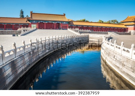 Beijing city - Shots of China - stock photo