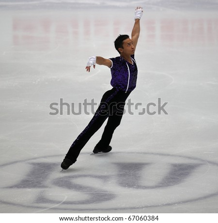 BEIJING-DEC 11: Florent Amodio of France performs in the Men-Free Skating event of the ISU Grand Prix of Figure Skating Final on Dec 11, 2010 in Beijing, China.