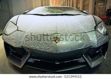 BEIJING   DEC 28, 2012: Lamborghini Aventador LP700 4, A Flagship V12