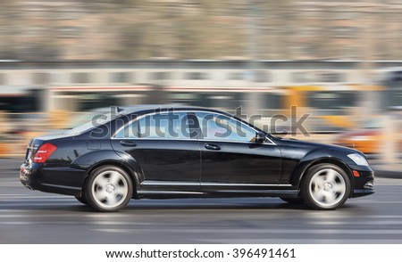 BEIJING-DEC. 6, 2013. Mercedes-Benz S Class. Luxury-car makers can count on China's growing wealth.  Number of Chinese with over $1 million in financial assets double the North America rate this year. - stock photo