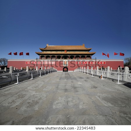 Beijing Iconic Landmark - Tian'anmen - stock photo