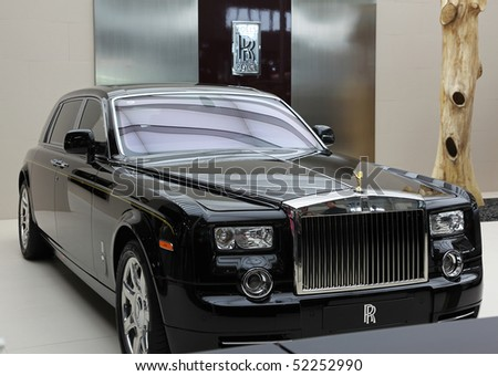 BEIJING - MAY 2: A Rolls-Royce Phantom Extended Wheelbase is on display at the 2010 Beijing International Automotive Exhibition (Auto China 2010) on May 2, 2010 in Beijing, China.