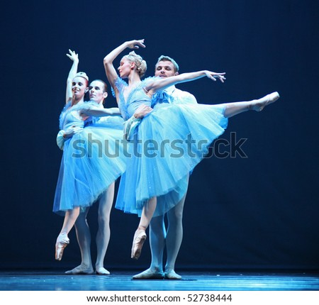 BEIJING-MAY 8: Dancers of the Czech National Theater ballet troupe perform The Nutcracker-fragments at Mei Lanfang Theatre on May 8, 2010 in Beijing, China. - stock photo