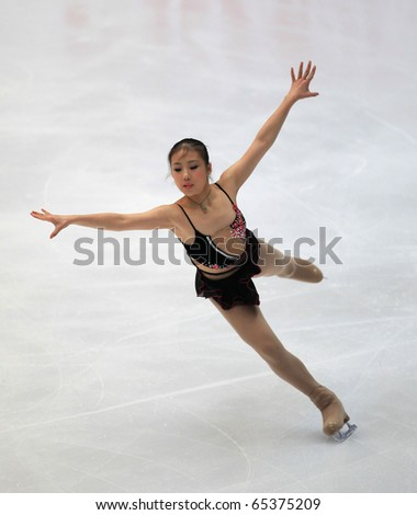 BEIJING-NOV 6: Bingwa Geng of China performs in the Ladies-Free Skating event of the SAMSUNG Cup of China ISU Grand Prix of Figure Skating 2010 on Nov 6, 2010 in Beijing, China.