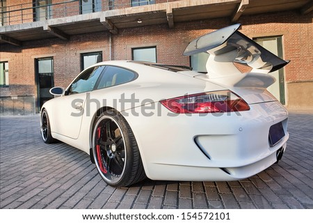 BEIJING-NOV. 8. Customized Porsche 911. In 2012 Porsche sold 31,205 vehicles in China, up 28 percent. First eight months 2013, sales growth slowed to 17 percent, 21,092 cars. Beijing, Nov. 8, 2010. - stock photo