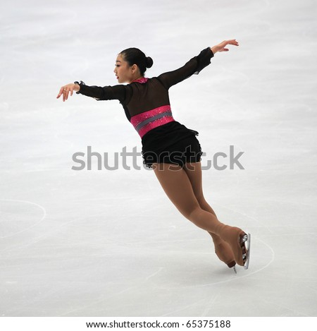 BEIJING-NOV 6 : Mirai Nagasu of USA performs in the Ladies-Free Skating event of the SAMSUNG Cup of China ISU Grand Prix of Figure Skating 2010 on Nov 6, 2010 in Beijing, China.