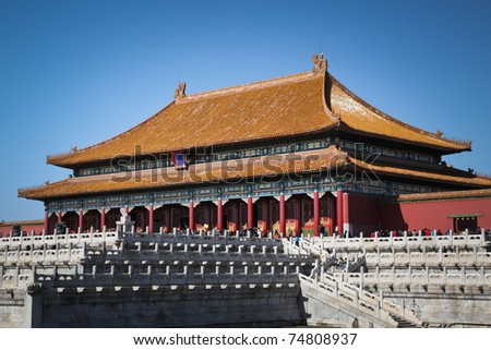 Beijing's Forbidden City - stock photo