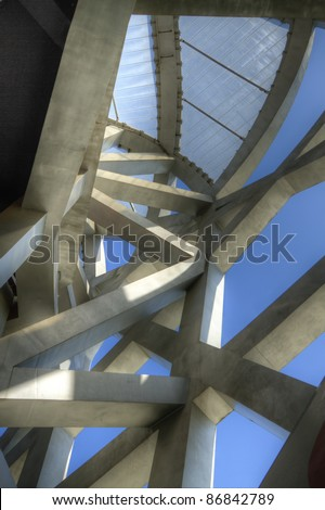 BEIJING - SEPTEMBER 8: Bird's nest on September 8, 2011. The Bird's Nest is a stadium in Beijing, China that was build and used in the 2008 Summer Olympics. - stock photo