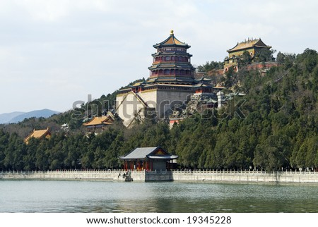 Beijing, summer imperial residence, empress Ci-xi palace - stock photo