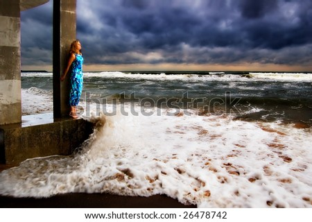 Being in one's element - stock photo