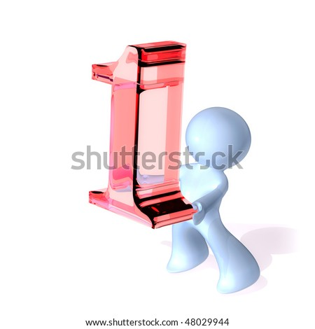 Being Number One - stock photo