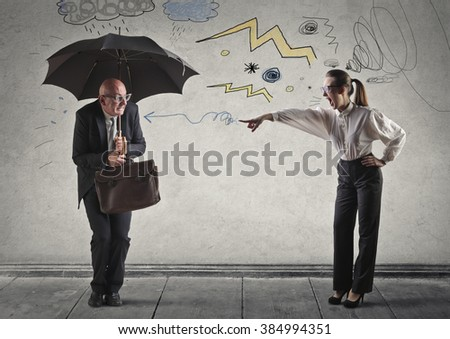 Being scolded - stock photo
