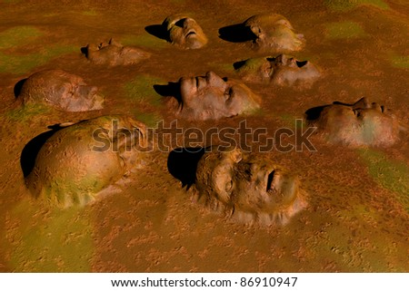 Beings immersed in absolute - stock photo