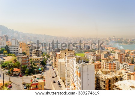 Beirut, the capital and largest city of Lebanon. - stock photo
