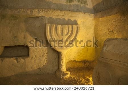 Beit She'arim sarcophagus - stock photo