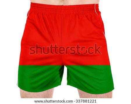 Belarussia. Belarusian flag  - stock photo