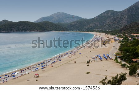 Belcegiz Beach, Olu Deniz, Turkey - stock photo