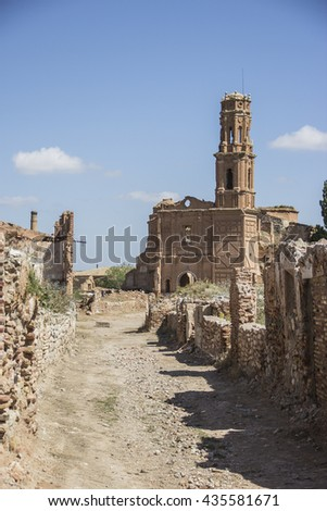 Belchite is an ancient town in Spain. Is known to have been the scene of one of the symbolic battles of the Spanish Civil War, the Battle of Belchite. Now it is abandoned.