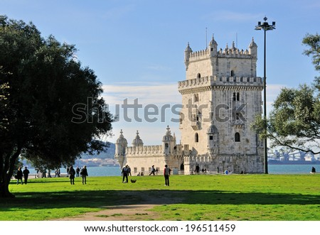 Belem tower and city park