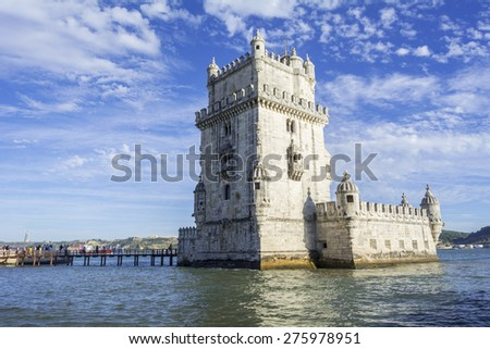 Belem tower is a fortified tower located in the civil parish of Santa Maria de Bel�©m in the municipality of Lisbon, Portugal.