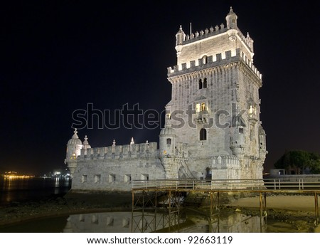 Belem Tower, or Tower of St. Vincent, was built in 1515 as a fortress to guard Lisbon's harbor. It is a symbol of Portugal and the Age of Discovery and is a UNESCO World Heritage monument.
