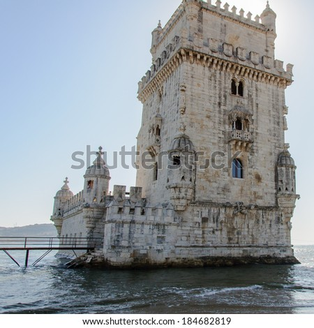 Belem Tower (Torre de Belem in Portuguese) is a fortified tower located in parish of Santa Maria de Belem in Lisbon, Portugal. It is a UNESCO World Heritage Site.