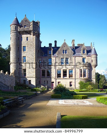 Belfast Castle  in Cavehill Country Park, Northern Ireland - stock photo