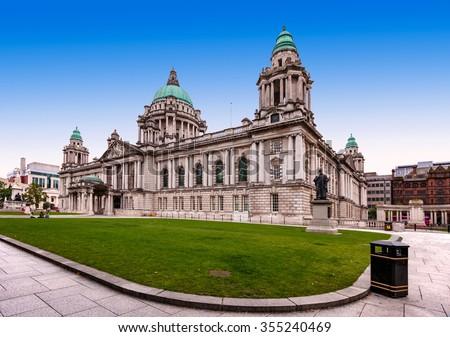 Belfast City Hall in Northern Ireland, UK - stock photo