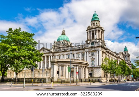 Belfast City Hall - Northern Ireland, United Kingdom - stock photo