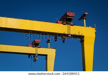 Belfast Cranes - stock photo