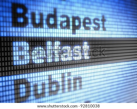 Belfast. World capitals  Full collection of icons like that is in my portfolio - stock photo