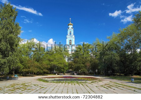 Belfry of the Ascension Church in Ekaterinburg, Russia