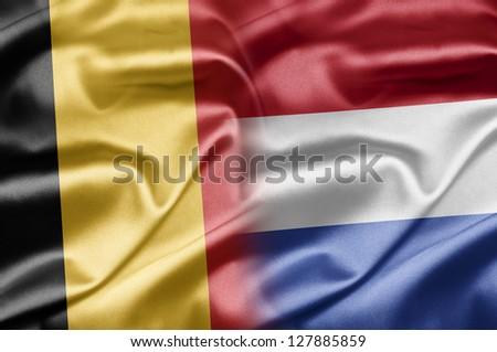 Belgium and Netherlands - stock photo