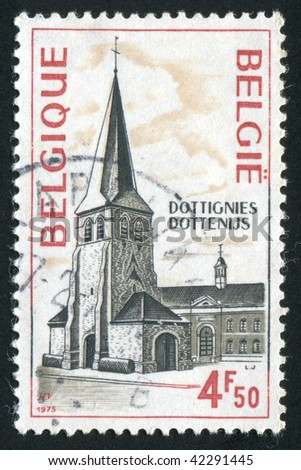BELGIUM - CIRCA 1975: Ancient building of church in Belgium, circa 1975.